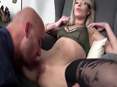 Seductive slut Ria Sunn recieves a double anal penetration