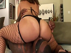 Katie Cummings in fishnets and a BBC