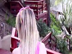 Sexy teen gives head outside pov