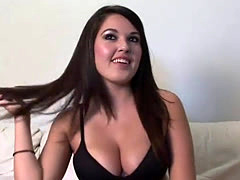 Busty girl shows her amazing good