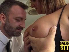 Nasty MILF with big tits and ass solo masturbates hard