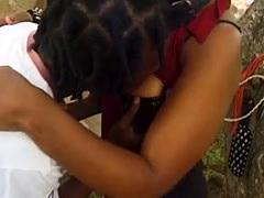 Big Black Cock Fucks Amateur Sex Slave In Public