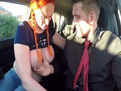 Big tits and butt redhead fucks examiner