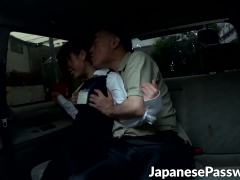 Mature guy toys a cosplay Japanese babe