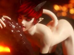 3D Evil Girl Fucks Monsters In Hell!
