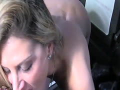 Gal pies on taxi driver and fuck his cock