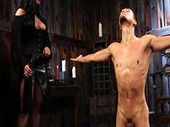 Mistress Fucks Male Slave's Butt