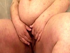 Preggo Lesbians Have Fun in the Bathroom