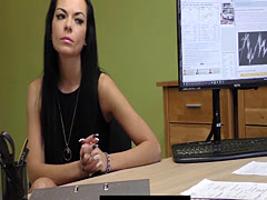 Diligent Russian MILF needs cash fast from a loan agent