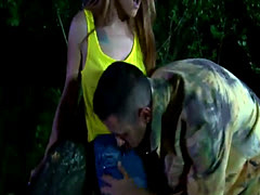 Outdoor Anal Sex With a Cute Hooker