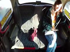 Fake taxi driver in pants fucks teen