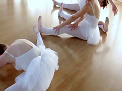Real teen ballerinas ride cock