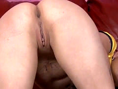 Emo Whore Getting Her Ass Destroyed By Dick On Leather Sofa
