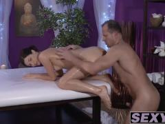 Arian Joy oiled up and hammered hard