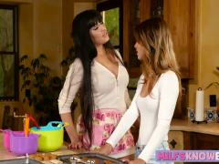 Hot mom seduces and bangs cute teen babe