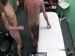 Nurse fucks patient while doctor is out at lunch