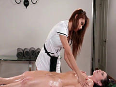 Russian masseuse 69ing with her sexy client Ayumi Anime