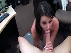 Hot customer screwed by horny pawn dude at the pawnshop