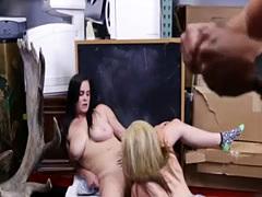 Big ass anal dildo ride first time Lesbians Pawn Their Asses!