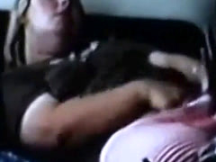 Hidden cam catches my chubby sister having orgasm