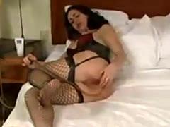 Woman gets an enema.