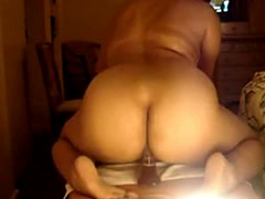 Latin BBw Riding a Dildo