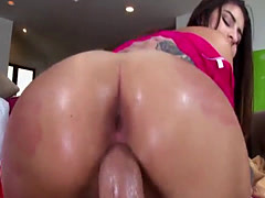 Free hardcore sex video Nina North gets used and d