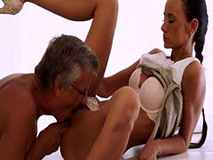 Old ladies fucking xxx Finally she's got her manager dick