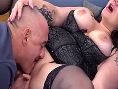 Hot mature sex and cumshot