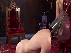 Big tits pornstar bondage and cumshot