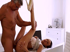 Waiter blowjob Finally she's got her chief dick