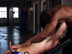 Gym jocks assfucking english stud