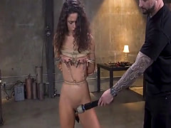 Petite slave bondage slave and orgasm