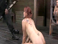 Hot pornstar bdsm bondage and cumshot