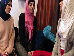 Muslim friends share a huge cock at bachelorette party