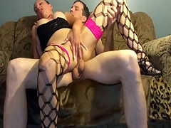 Wife In Stockings Sucks My Big Pecker