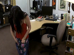 Pretty latina boned by nasty pawn keeper in the backroom