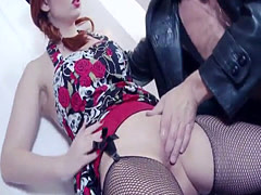 Two hot babes share a delicious dick