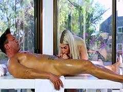 Natural tits pornstar ball licking with massage