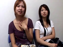 Two Japanese Girls Get Close Up View By Guy Jerkin