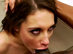 Interaccial threesome deepthroat and pussy fucking Dana Vespoli