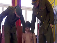 : Horny officers Hell and Cutler take advantage of Yuri Adamov