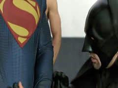 Superman and Batman fucks three hungry asshole