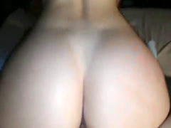 Sexy PAWG riding dick and gets almost creampied