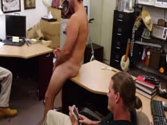 Tight ass hairy dude arrives in the pawnshop and gets holes in his vir