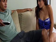 Michelle Martinez fucks her step bros cock