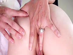 Doctor gaping and anal fingering babes