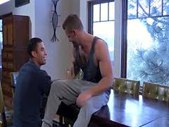 Muscled Latino stud takes cock deep