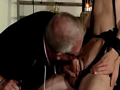Gay master punishes slave twink and guys jerking off till they cum por