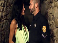 Corrupt cop fucks a working chick hard in a catacomb